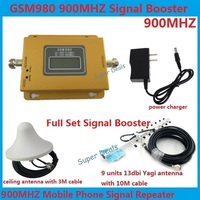 13dbi yagi+LCD display! mobile phone GSM 980 900mhz signal boosters,cell phone GSM signal repeater gsm signal amplifier Full Set