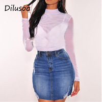 718b9f3f3150 Jeans Skirt Button Waist Denim Compare preços