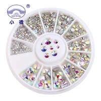 SS3-SS20 blanc AB verre Strass pour ongles Art décorations paillettes vêtement perles FlatBack Strass cristal 500 pièces dans la roue