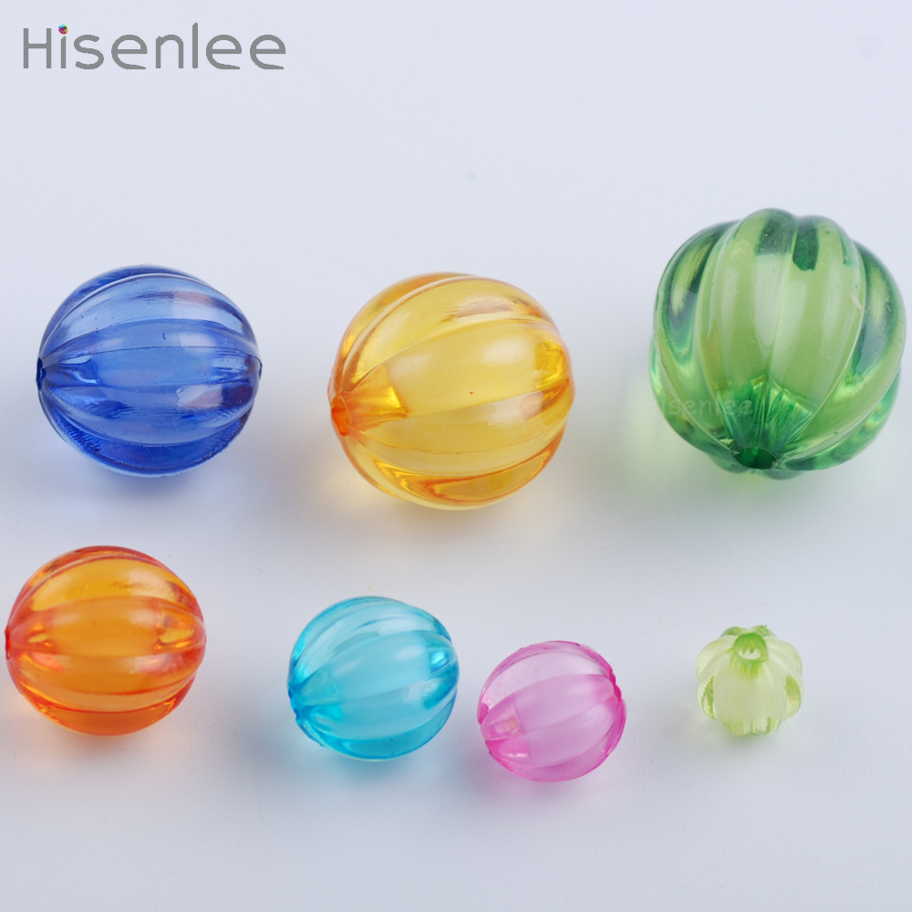 Mixed Colors Acrylic Faceted Round Spacer DIY Children Beads Necklaces Bracelet Preparation Puzzle Toys Handmade Materials Girls