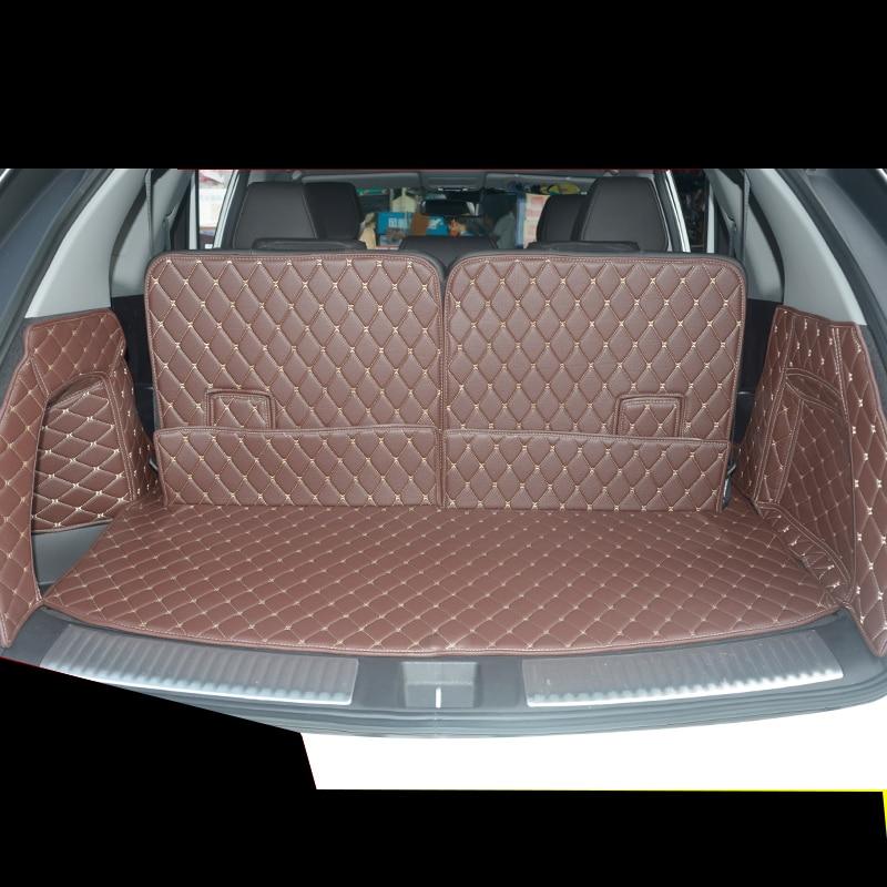 Lsrtw2017 Fiber Leather Car Trunk Mat For For Acura Mdx