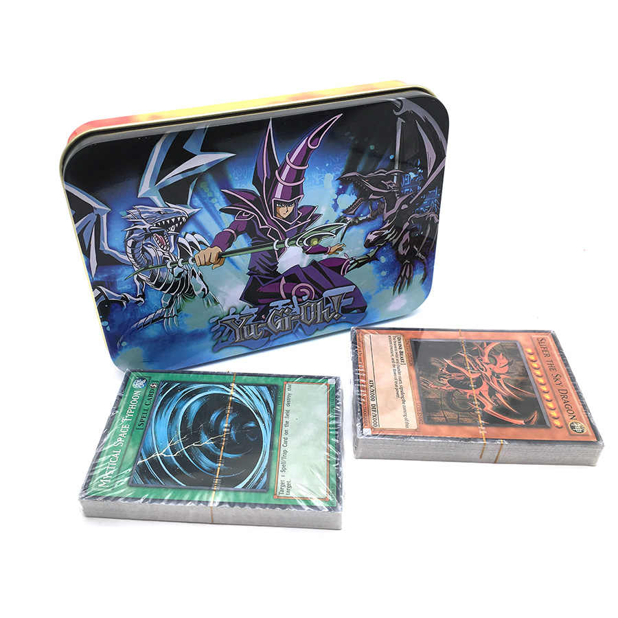 Yu gi oh карты Египетский Бог коллекционные игрушки для мальчика бесплатно Yu-gi-oh металлическая коробка фигурки Япония Yu Gi Oh легендарная настольная игра Cartas