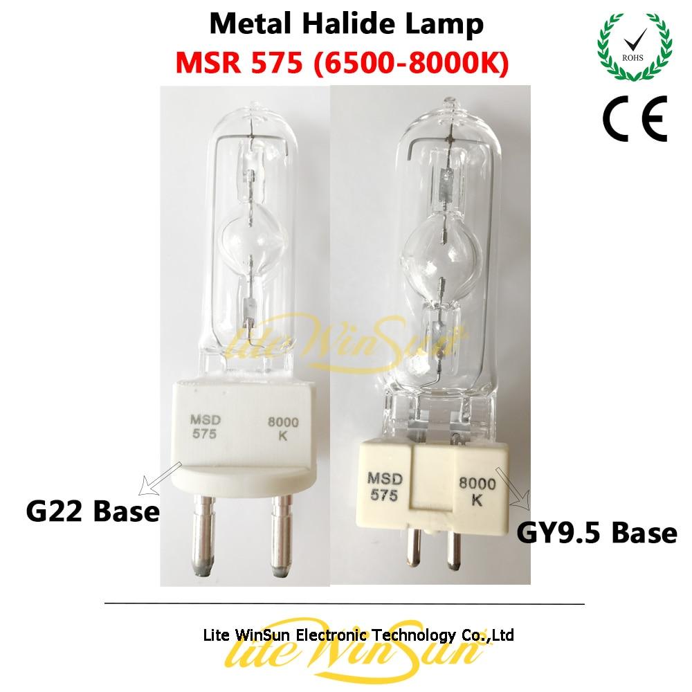 Litewinsune MSR575W MSD 575 G22 GY9.5 G22 Base 6500K 8000K 575w Moving Head Lamp