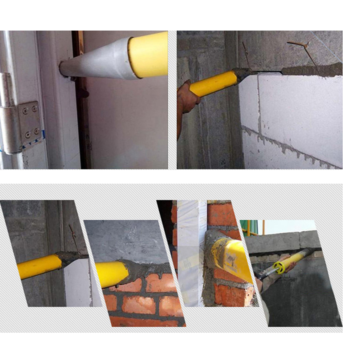 Caulking Gun Mayitr Pointing Brick Grouting Mortar Sprayer Applicator Tool For Cement Lime Wall Window Filling Tool Y30