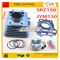 jianshe YBR YJM sr150 srz150 yjm150 150cc cylinder assy cylinder block assembly 57mm piston ring gasket set free shipping