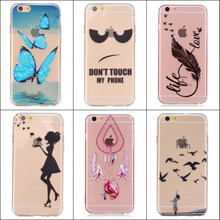 For Apple iPhone 6 6s 5.5 Plus Case Slim Crystal Clear TPU Silicone Protective sleeve for iPhone 6 5.5 inch cover cases