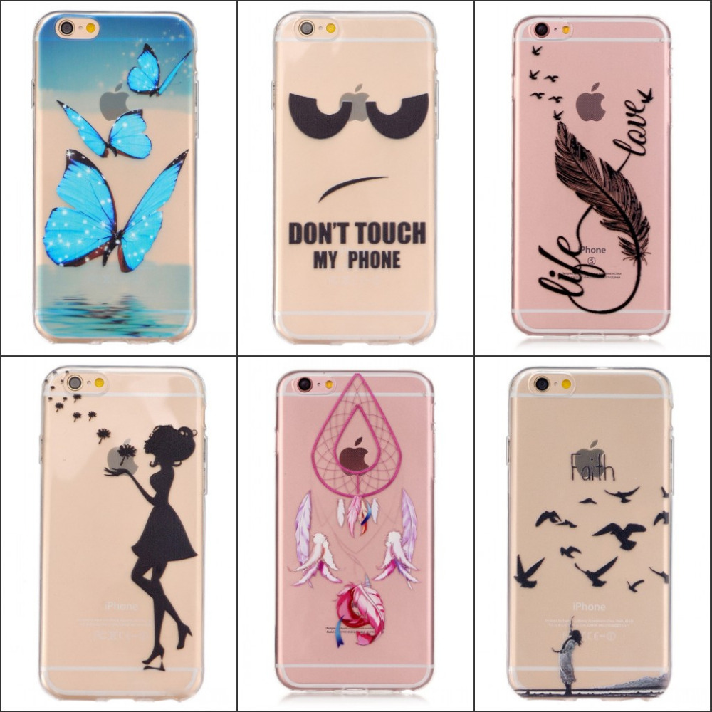 JOVO For Apple iPhone 6 6s 5 5 Plus Case Slim Crystal Clear TPU Silicone Protective