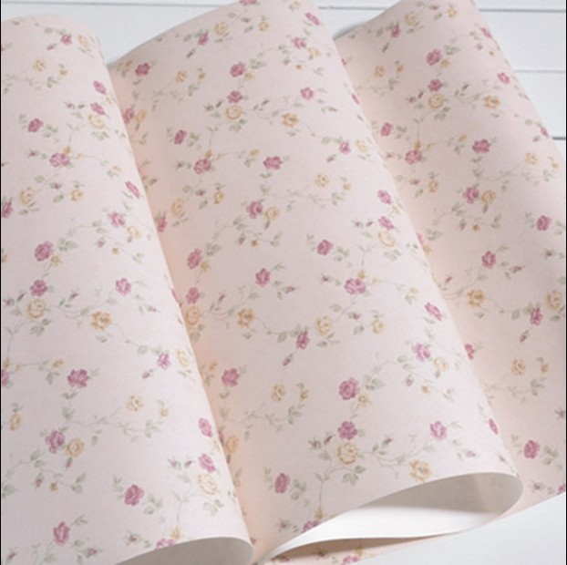 Classic new hot selling PVC wall paper Warm romantic sitting room bedroom background wallpaper Rural children room blue flowers new 2016 hot selling cartoon sleeping bear children baby room non woven wallpaper sitting room bedroom wall paper boy princess