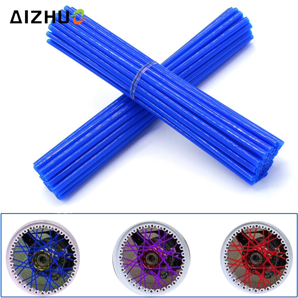 Universal 72 Pic Motorcycle Wheel Spoke Skin Dirt Bike Pit Motorcross Plastic Skins 11 Color