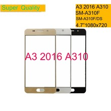 50Pcs/lot For Samsung Galaxy A3 2016 A310 SM-A310F SM-A310F/DS Touch Screen Front Glass Panel TouchScreen Outer Glass Lens сотовый телефон samsung sm a310f ds galaxy a3 2016 white