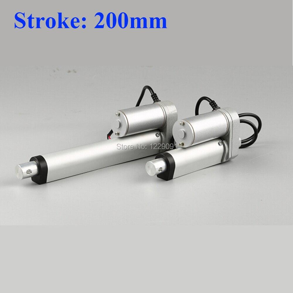 Electric Linear actuator 200mm Stroke linear motor controller dc 12V 24V 200/350/400/600/700/750N