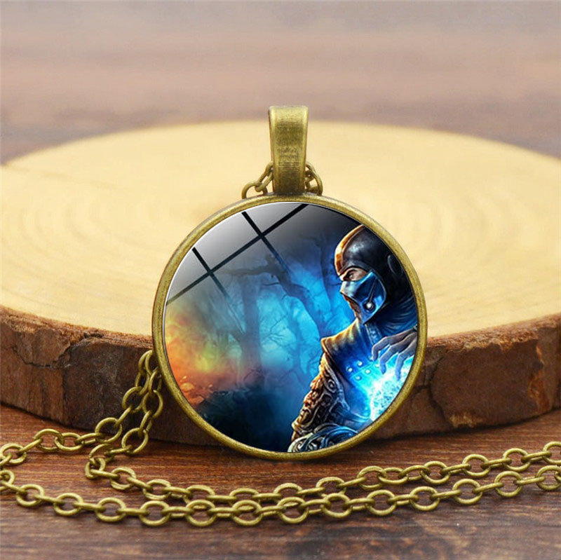 Fighting Technology Game Necklaces And Vintage Fighting Games Mortal Kombat dragon Jane Empire Great Necklace movie jewelry