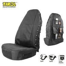 TIROL Black Waterproof Universal Car Bucket Seat Cover Multi-Pockets Organizer Storage Holder Protector 1 Pack Free Shipping