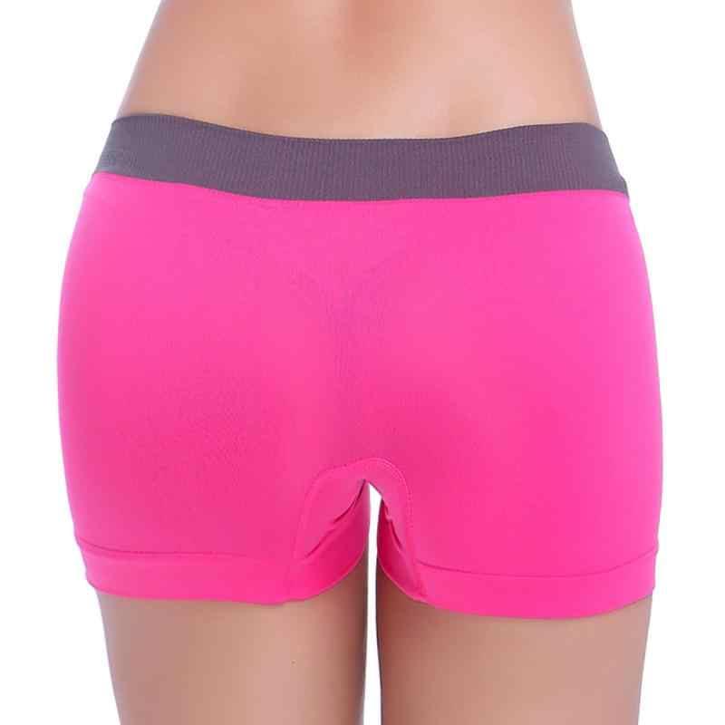 Ms. korte broek Styish Meisjes Hoge Taille Pure Kleur Ademend Vrouwen Naadloze Comfy Boxers Sexy Korte Broek