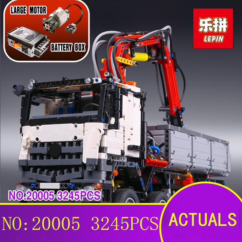 LEPIN 20005 2793Pcs Technic Series Arocs Technic Plane Building Blocks Bricks Kits Ecudational Toys for Children Gift 42043 lepin technic series building bricks 20005 2793pcs arocs truck model building kits blocks compatible 42043 boys toys gift