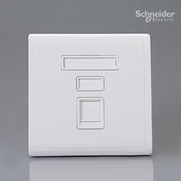 2PCS/lot Schneider switch socket authentic Feng Shang series white one phone jack E8231RJS4