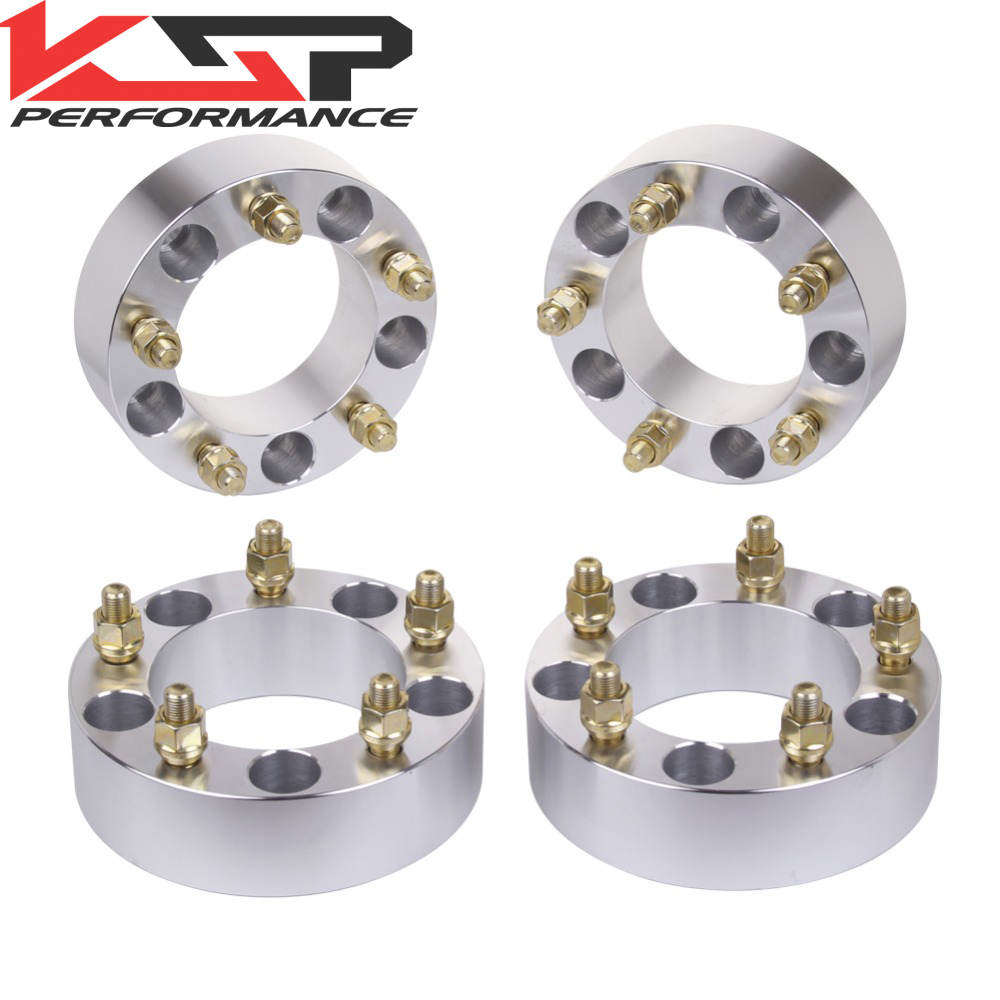 KSP (4) 2 Inch (50mm) 5x5.5 To 5x5.5 (5x139.7mm) Wheel Spacers Adapters for Ford Bronco Jeep CJ Dodge Ram 1/2 Studs 108mm Bore 4pcs billet 4 lug 14 1 5 studs wheel spacers adapters for kia cerato