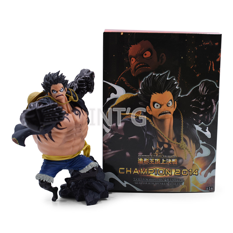 5 6 quot 14cm One piece Gear fourth Monkey D Luffy Anime Collectible Action Figure PVC toys Christmas gift for Children Birthday in Action amp Toy Figures from Toys amp Hobbies