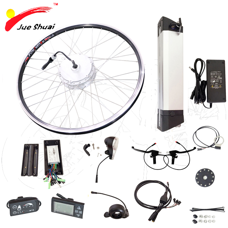 Electric Bicycle Bike conversion Kit with Battery 36v 250w 350w 500W Ebike E-bike velo electrique vtt trousse elektrische fie free customs taxes and shipping li ion ebike battery pack 24v 8ah 350w electric bike kit battery hailong e bike with charger