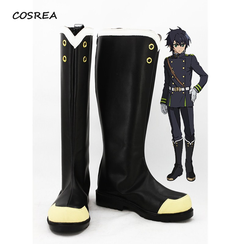 Seraph of the End Yuichiro Hyakuya Owari no Seraph Boots Cosplay Costumes Halloween Adult Woman Man Party Props Shoes customize
