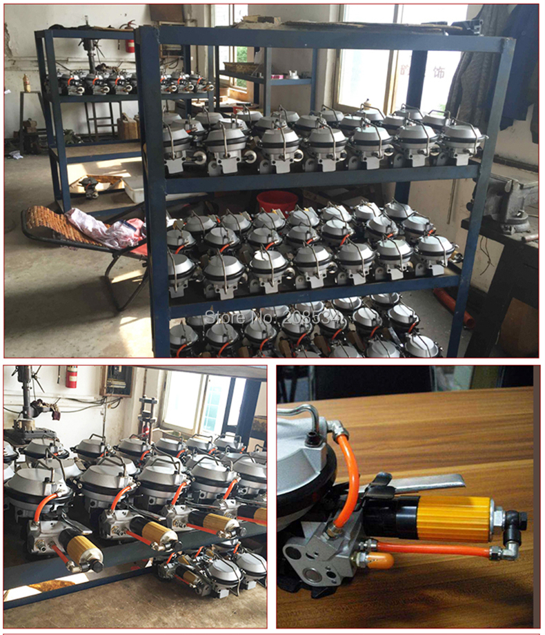 Купить с кэшбэком A480/KZ-19 Pneumatic Combination Steel Strapping machine Steel strip packing machine kit Strapping tensioner sealer cutting tool