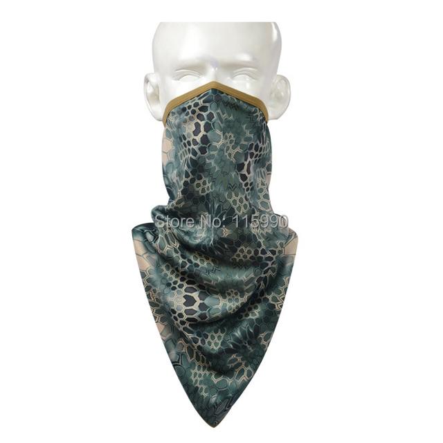 Battle Snake Tri-angle bufanda / de montaña pañuelo bandana / Battle Snake camo pañuelo bandana / a caballo senderismo bufandas deportivas / Outddoor camo bufandas