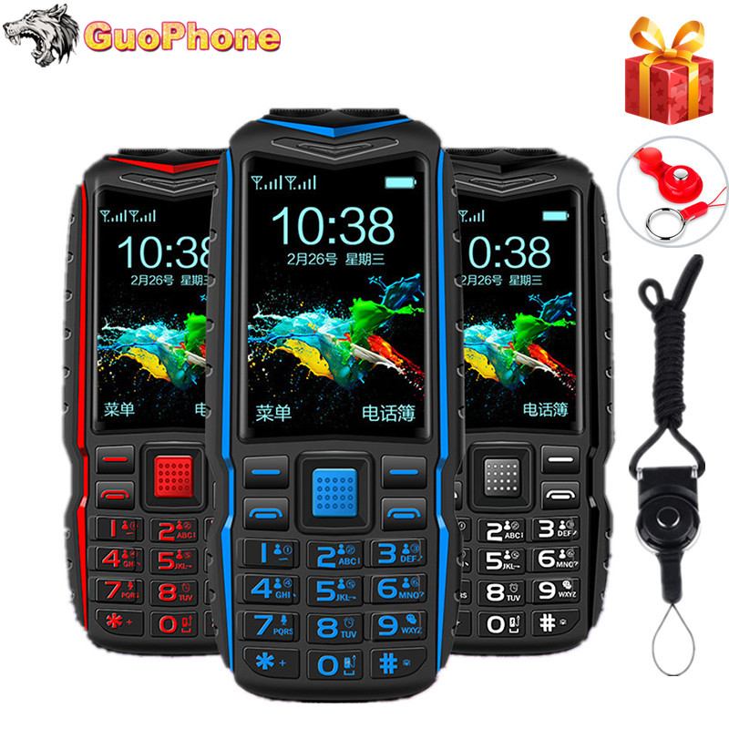KUH T3 Power Bank Telefon Dual Sim Karten Kamera MP3 Dual Taschenlampe Großen Stimme 2,4 Zoll Robuste Stoßfest Günstige Handy