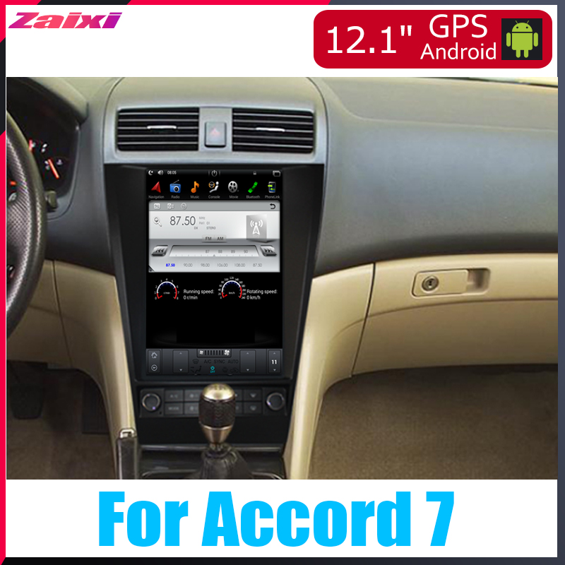 ZaiXi Android Car Multimedia GPS For <font><b>Honda</b></font> <font><b>Accord</b></font> <font><b>7</b></font> 2002~2008 Radio vertical screen tesla screen Radio Video USB DAB+ image