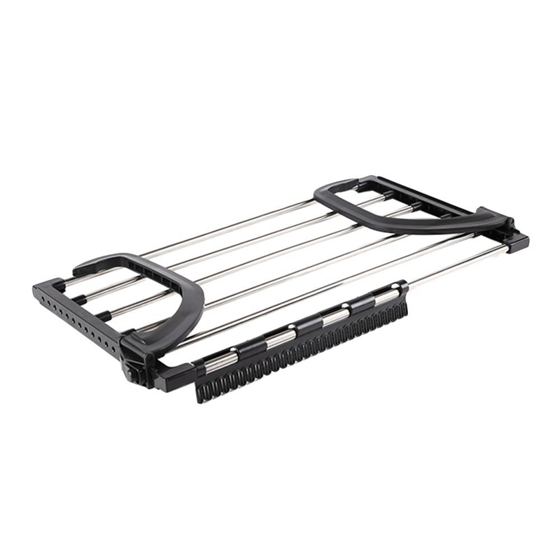 New-Folding Telescopic Balcony Drying Shoe Rack Multiple Hook Adjustment Clothes Rack Outdoor Storage Rack For Underwear Shoes
