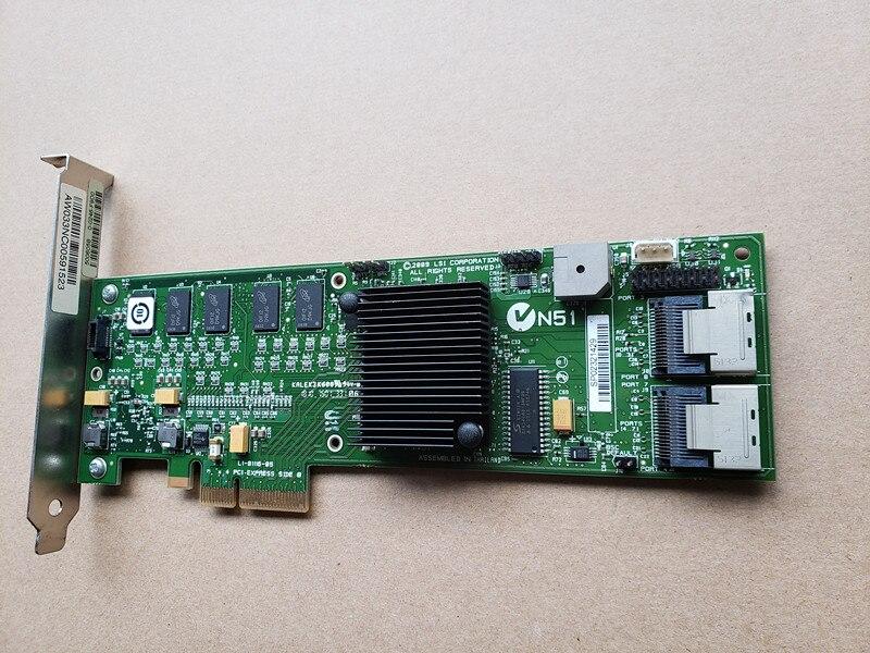 MegaRAID SAS 8708ELP LSI00141 RAID5.6.0.1 SFF8087 256MB Cache 16 Port MiniSAS 3Gb PCI-E X8 Controller Card
