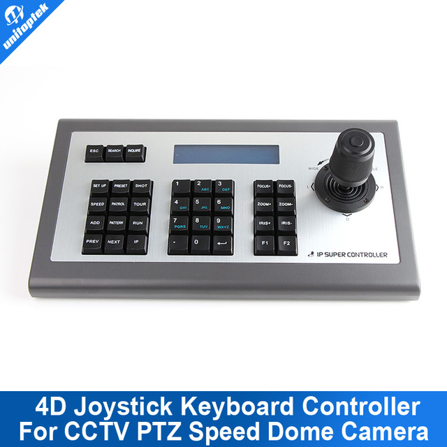 4D 4-AXES Joystick IP PTZ Keyboard Controller Support XM Aipstar IP Security CCTV Speed Dome PTZ Camera