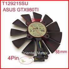 Freies verschiffen everflow t129215su 12 v 0.5a 88mm 28*28*28*28mm 4 pins für asus gtx980ti graphics card kühler lüfter