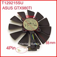 Free Shipping T129215SU 12V 0.5A 88mm 28*28*28*28mm 4Pins For ASUS GTX980TI Graphics Card Cooler Cooling Fan