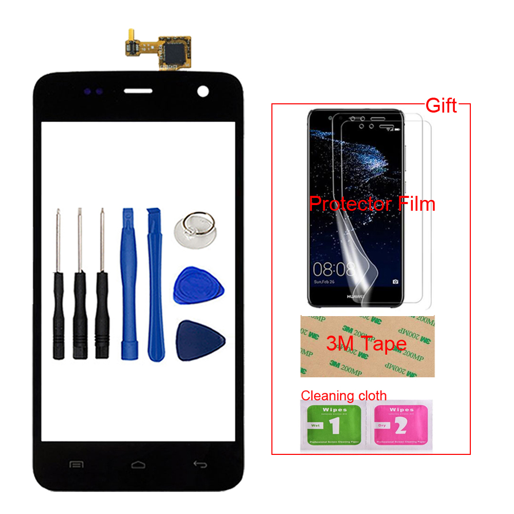 Mobile Front Touch Screen Touch Glass Digitizer Panel Lens Sensor For Explay Vega Capacitive + Free Protector Film Tape