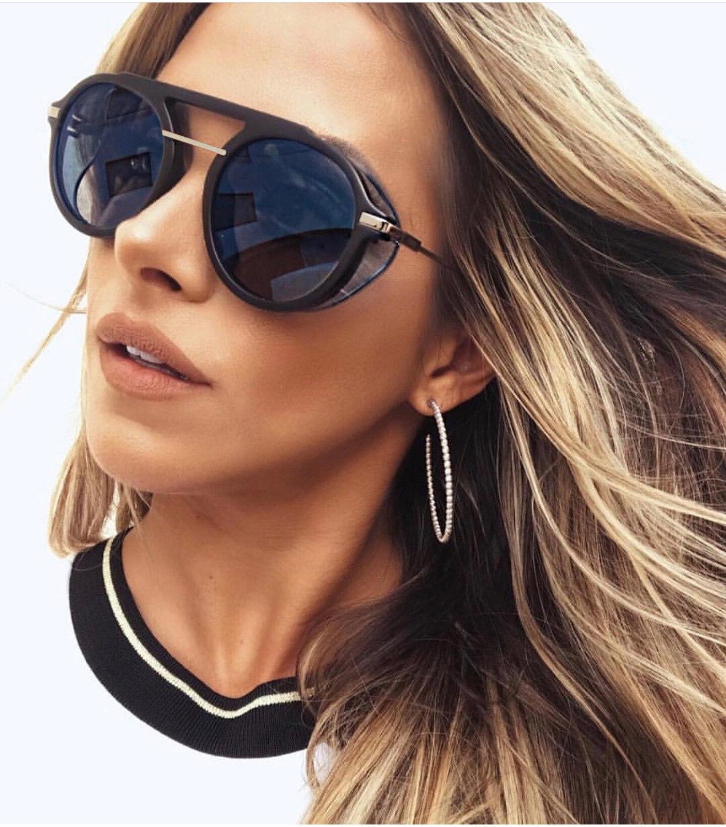 Steampunk Men Sunglasses Women Oversized  Luxury Brand Designer Sun Glasses for Women  Vintage Cat Gothic Retro Top Sellers 2018
