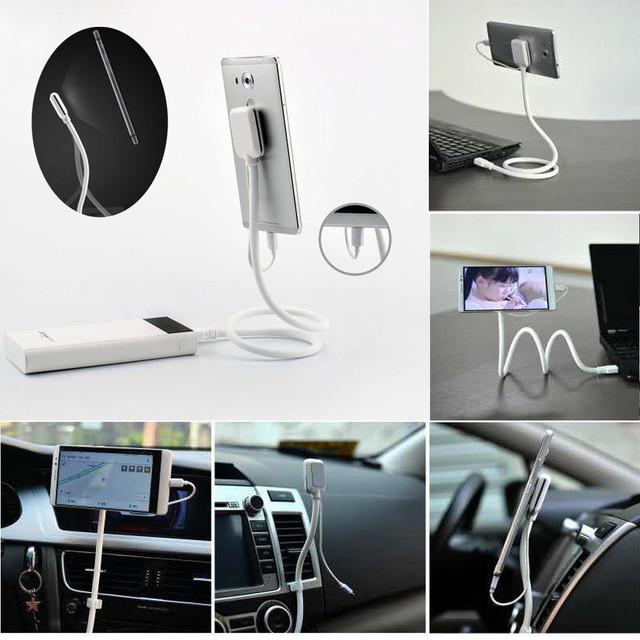 2016 venta caliente nuevo soporte del teléfono del coche 2.1a usb magnética cable de carga para samsung para iphone soporte para coche vicky