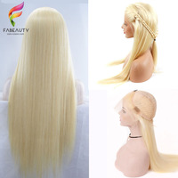 Glueless Honey Blonde Lace Front Human Hair Wig Pre Plucked Brazilian Lace Wigs With Baby Hair 613 Blonde Remy Straight Wig