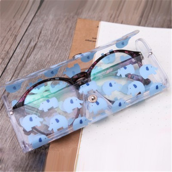 Hot Sale Thick Plastic Pencil Case Transparent School Pencil Box Eye Glasses Protector Case School Supply Stationery Pencil Bag image