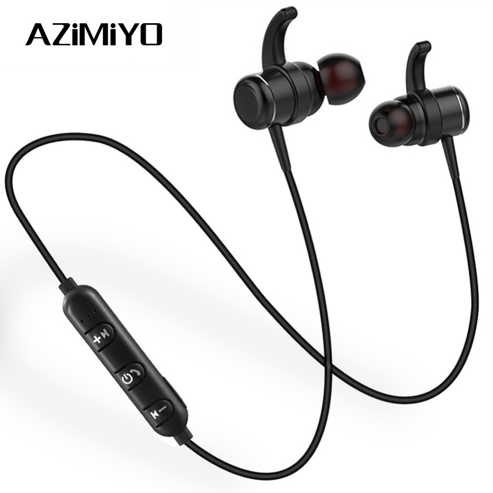 AZiMiYO T1 Wireless Bluetooth Headphone Earphones Metal bass Neckband earphone With MIC Magnetic headphone for