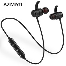 AZiMiYO T1 Wireless Bluetooth Headphone Earphones Metal bass Neckband earphone With MIC Magnetic headphone for Phone iphone mi