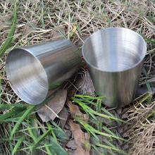 24Pcs Outdoor Camping Hiking Polished Stainless Steel Whiskey Liquor Cup for Hip Flask