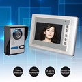 3.6mm 700tvl 7''Video Intercom Door Phone System With 1 Monitor Night Vision HD Doorbell Camera Intercom Door Phone Waterproof