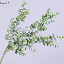 Artificial Plastic Eucalyptus tree branch for Christmas wedding decoration Flower arrangment small leaves plant faux foliage