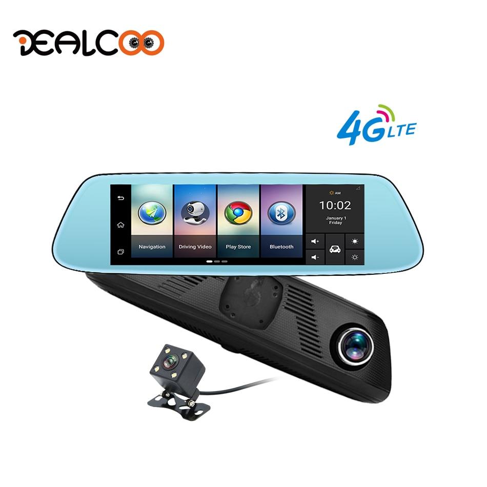 Dealcoo 4G Dash Cam 8 Registrator 1080P Full HD Dual Lens Rearview Mirror Car Camera GPS Navigation Parking Monitor Car DVR