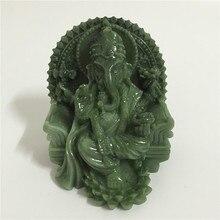 גנש פסל פיל אלוהים בודהה פיסול פסלון מעשה ידי אדם אבן מגולף דקורטיבי פסלי עיצוב הבית Fengshui מתנה