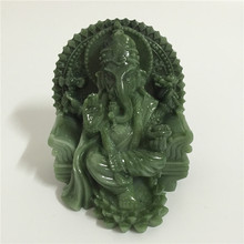 Ganesha Statue Elephant God Buddha Sculpture Figurine Man made Stone Carved Decorative Statues For Home Decoration Fengshui Gift
