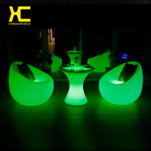 Plastic Chargeable Cordless Lighted LED Coffee Table Outdoor Color Changing Remote Control Restaurant Tables