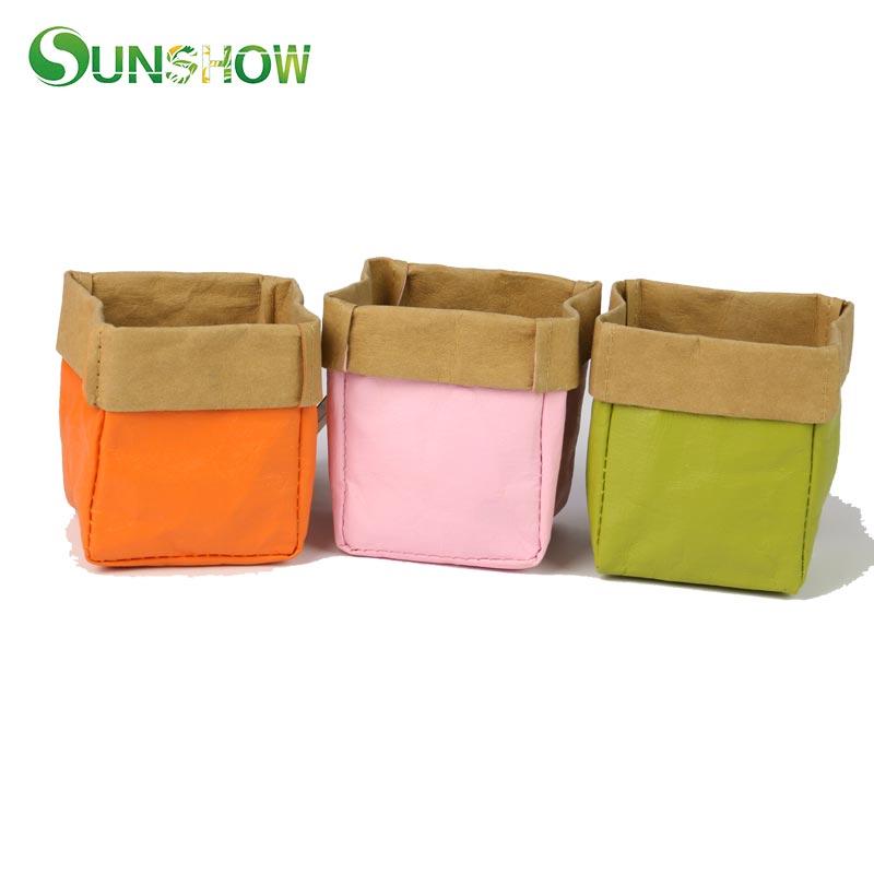 e1599bae99 Kraft Χάρτινες Τσάντες Αποθήκευσης Πορτοκαλί Πράσινο Ροζ Πλένεται ...