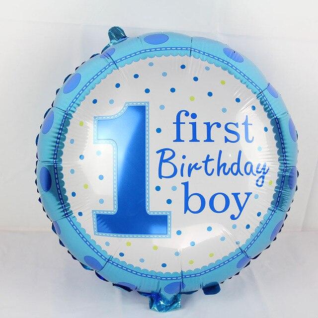 3pcs Happy Birthday Decoration Number One Balloon Blue Baloon Helium