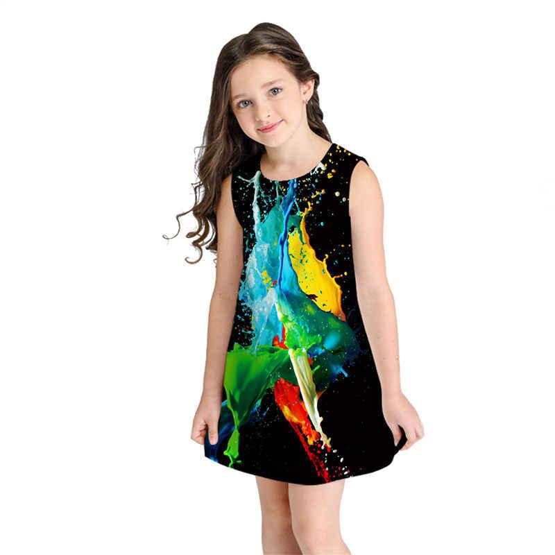 Платье с розами для девочек летние детские платья принцессы От 8 до 11 лет без рукавов для девочек-подростков пляжное праздничное платье Сарафан